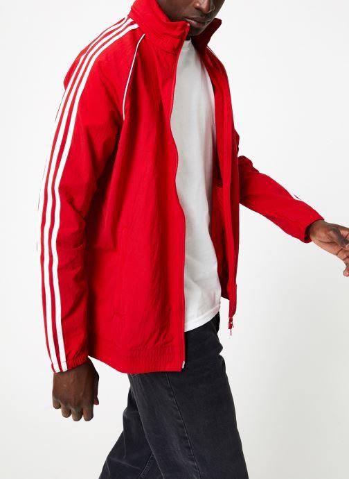 Vêtements adidas originals Sst Windbreaker Rouge vue droite