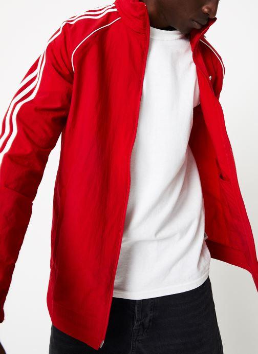 Vêtements adidas originals Sst Windbreaker Rouge vue détail/paire