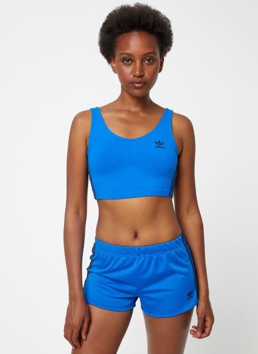 Vêtements adidas originals Crop Tank Bleu vue détail/paire