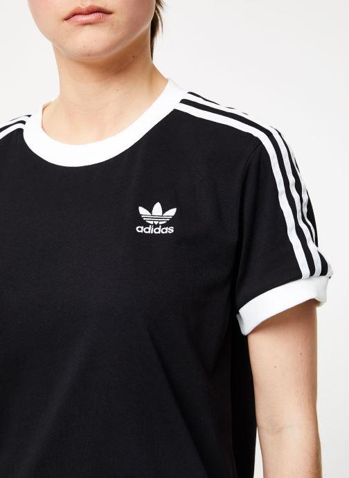 Vêtements adidas originals 3 Stripes Tee Noir vue face