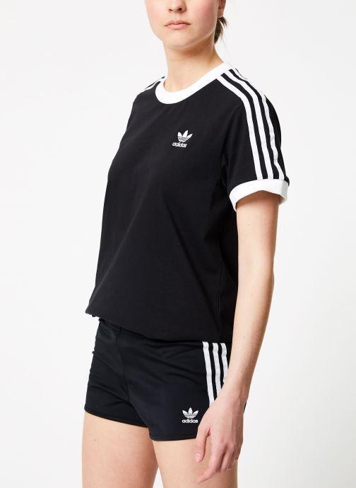 Vêtements adidas originals 3 Stripes Tee Noir vue droite