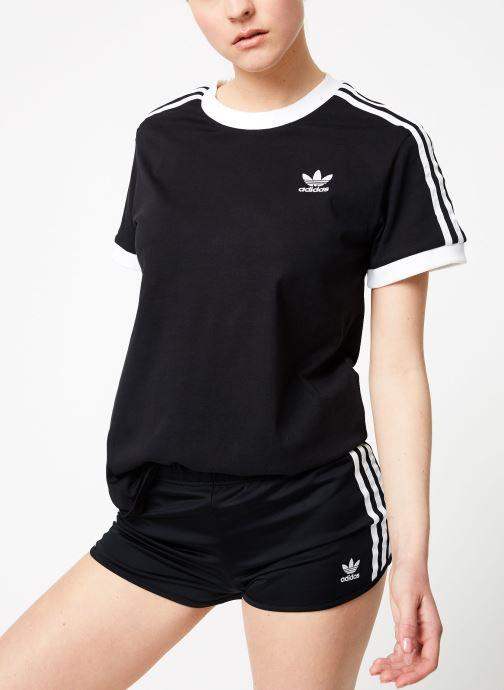 Vêtements adidas originals 3 Stripes Tee Noir vue détail/paire