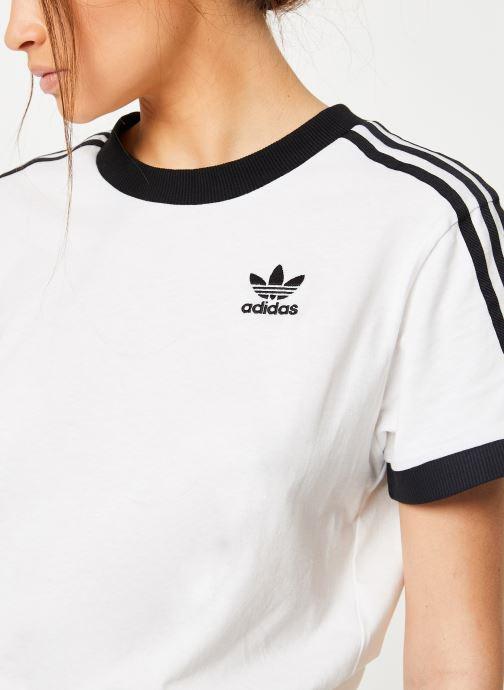 Vêtements adidas originals 3 Stripes Tee Blanc vue face