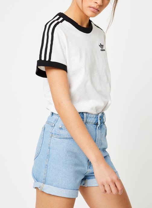 Kleding adidas originals 3 Stripes Tee Wit rechts