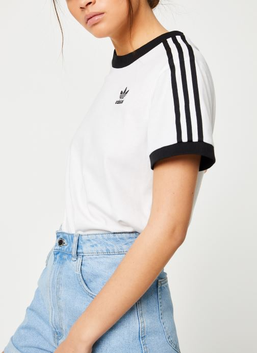 Kleding adidas originals 3 Stripes Tee Wit detail