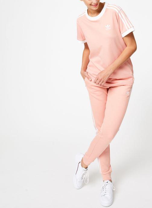 Kleding adidas originals 3 Stripes Tee Roze onder