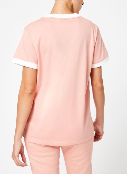 Kleding adidas originals 3 Stripes Tee Roze model