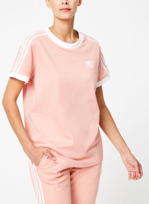 Vêtements adidas originals 3 Stripes Tee Rose vue droite