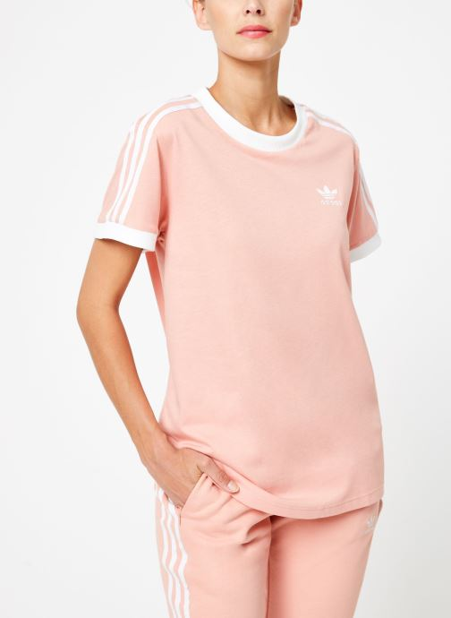 Kleding adidas originals 3 Stripes Tee Roze detail