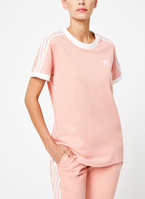 Vêtements adidas originals 3 Stripes Tee Rose vue détail/paire