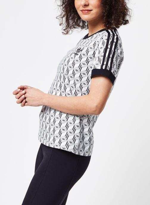 Vêtements adidas originals 3 Stripes Tee Blanc vue droite