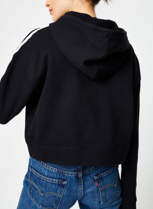 Kleding adidas originals Cropped Hoodie Zwart model