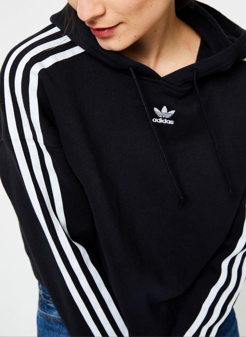 Kleding adidas originals Cropped Hoodie Zwart voorkant