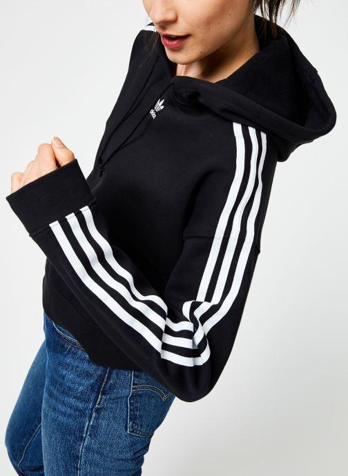 Vêtements adidas originals Cropped Hoodie Noir vue droite