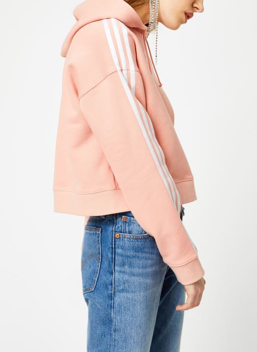 Kleding adidas originals Cropped Hoodie Roze rechts