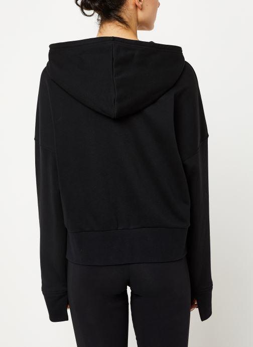 Vêtements adidas originals Cropped Hoodie Noir vue portées chaussures