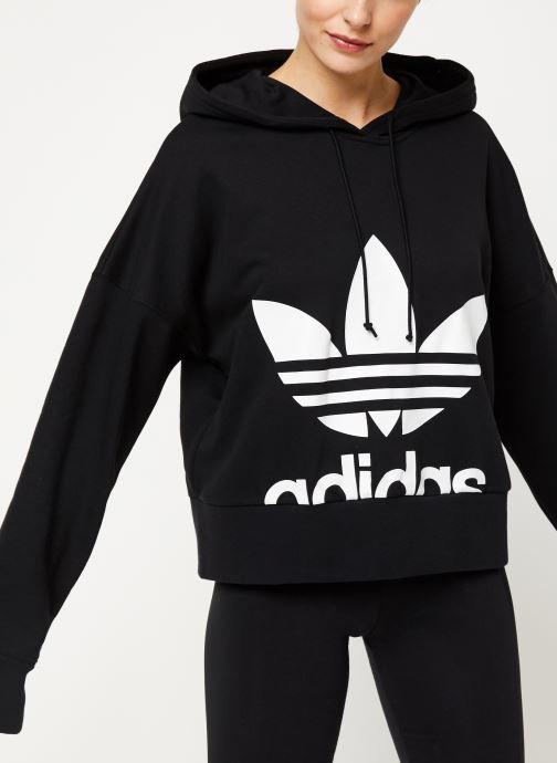 Vêtements adidas originals Cropped Hoodie Noir vue détail/paire