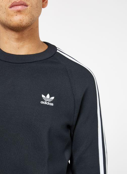 Vêtements adidas originals Knit Crew Noir vue face