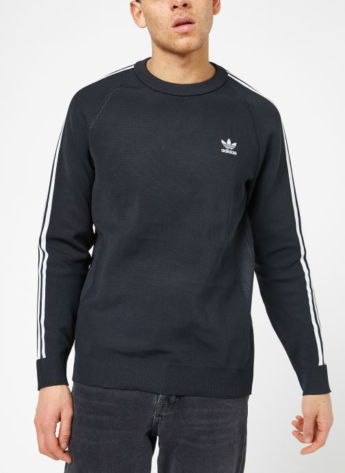 Vêtements adidas originals Knit Crew Noir vue droite