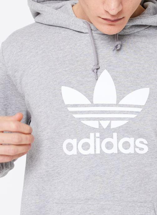 Tøj adidas originals Trefoil Hoodie Grå se forfra