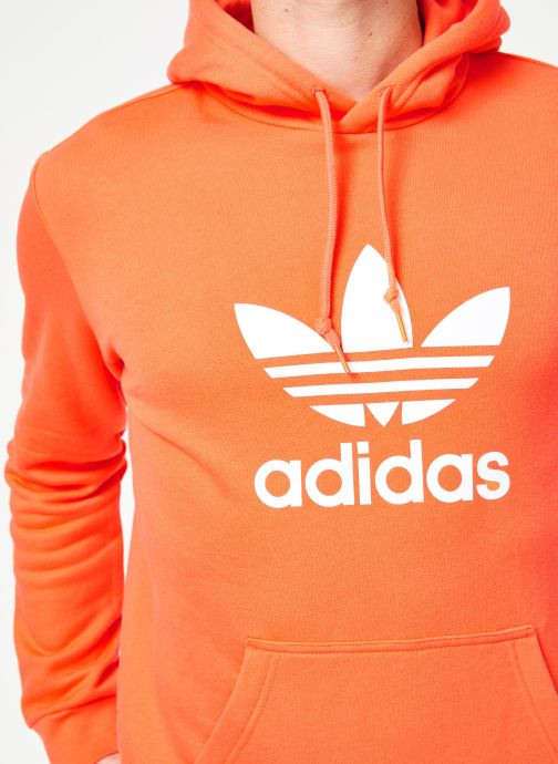 Vêtements adidas originals Trefoil Hoodie Orange vue face