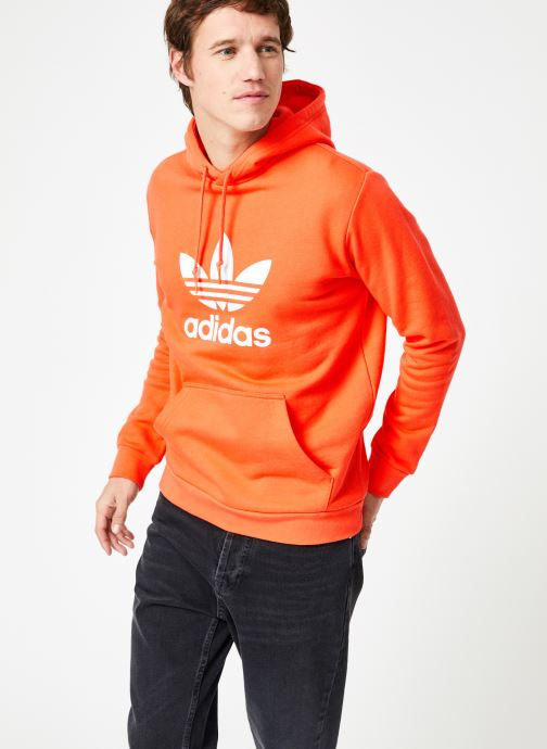 Vêtements adidas originals Trefoil Hoodie Orange vue droite