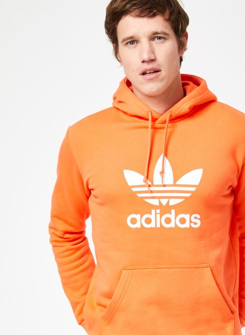 Vêtements adidas originals Trefoil Hoodie Orange vue détail/paire