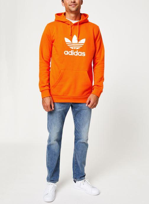Vêtements adidas originals Trefoil Hoodie Orange vue bas / vue portée sac