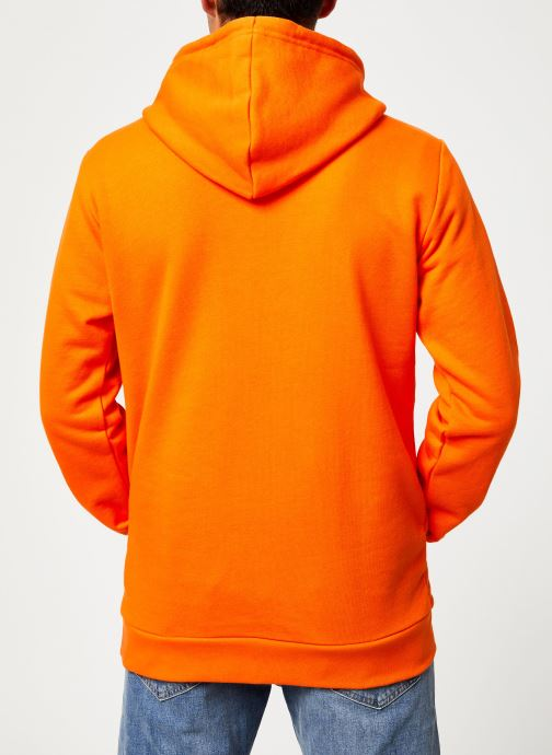 Vêtements adidas originals Trefoil Hoodie Orange vue portées chaussures