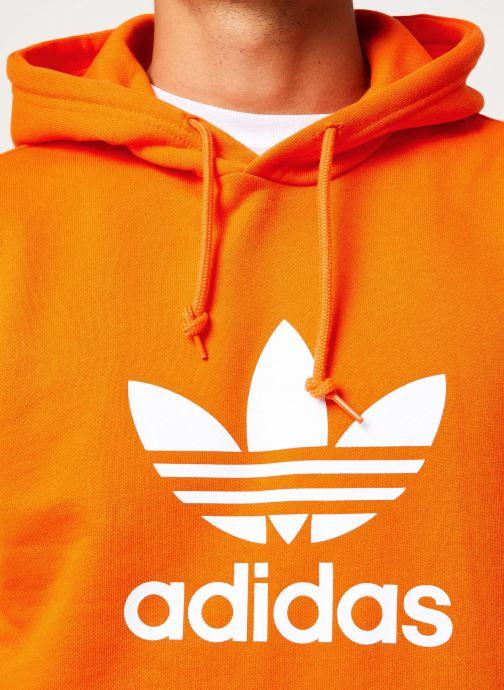 Vêtements adidas originals Trefoil Hoodie Orange vue face