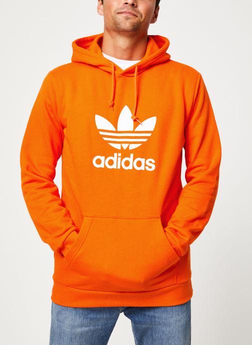 Vêtements adidas originals Trefoil Hoodie Orange vue droite