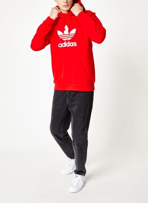 Kleding adidas originals Trefoil Hoodie Rood onder