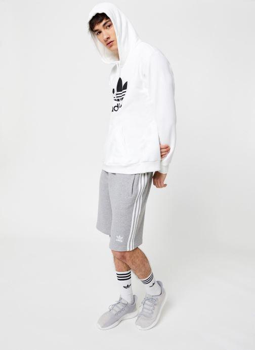 Vêtements adidas originals Trefoil Hoodie Blanc vue bas / vue portée sac