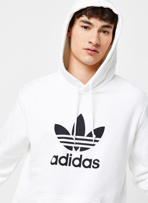 Vêtements adidas originals Trefoil Hoodie Blanc vue face