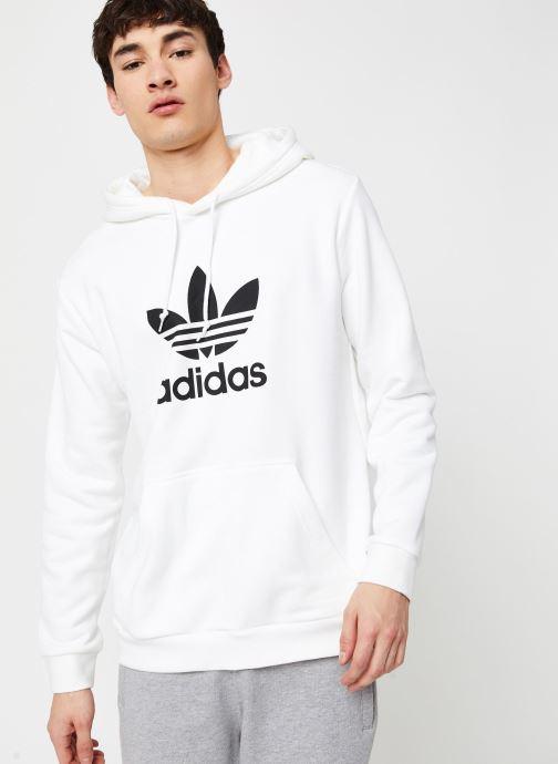 Vêtements adidas originals Trefoil Hoodie Blanc vue droite