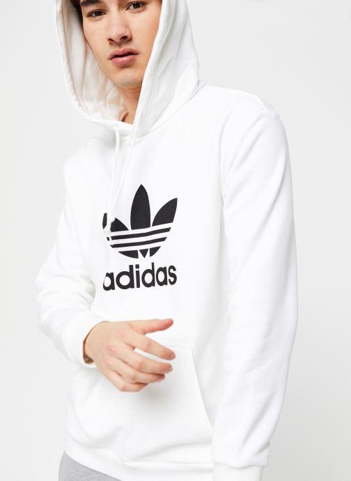 Vêtements adidas originals Trefoil Hoodie Blanc vue détail/paire