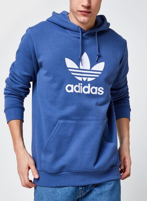 Vêtements adidas originals Trefoil Hoodie Bleu vue détail/paire