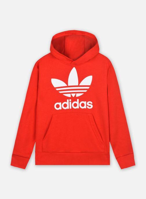 Vêtements adidas originals Trefoil Hoodie Rouge vue détail/paire