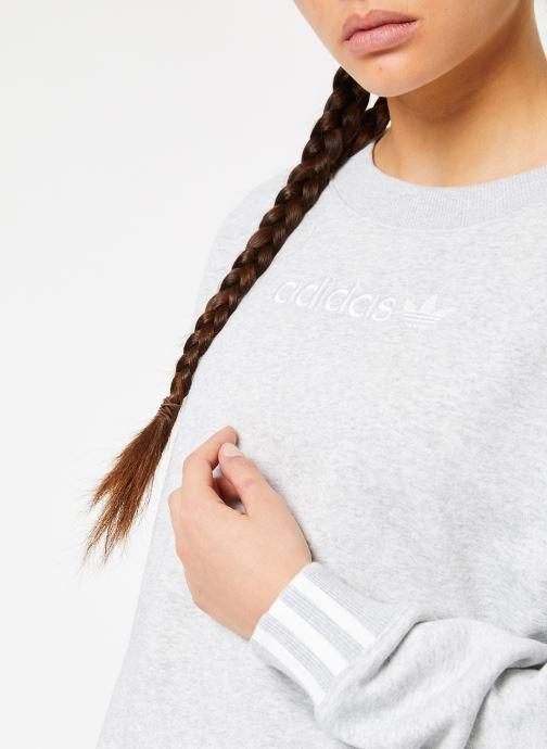 Vêtements adidas originals Coeeze Sweat Gris vue face