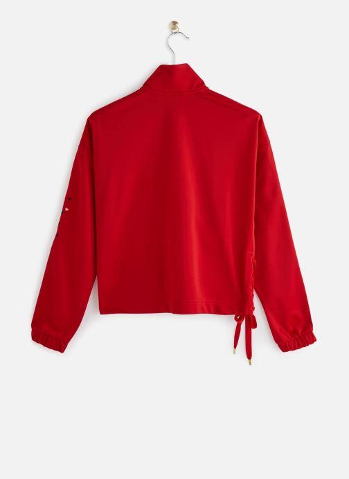 Vêtements adidas originals Track Top Rouge vue bas / vue portée sac