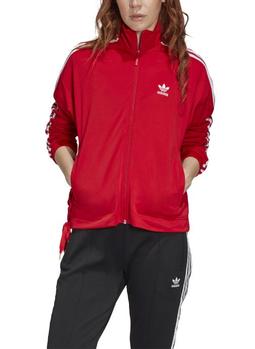 Vêtements adidas originals Track Top Rouge vue face