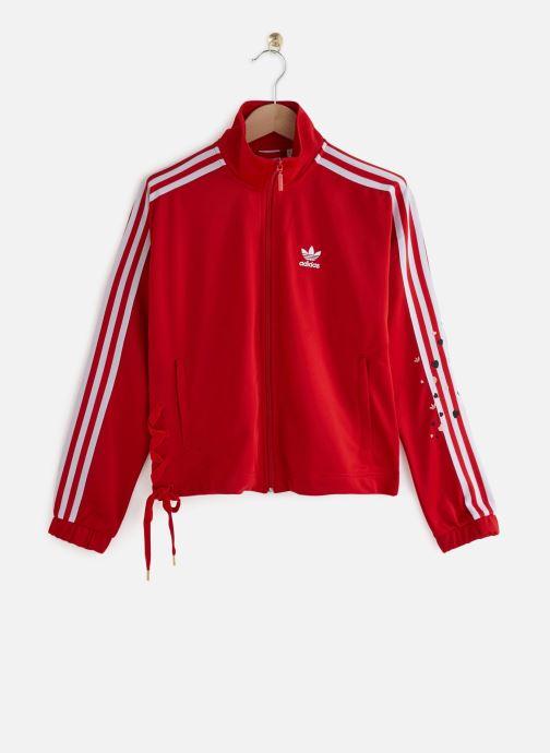 Vêtements adidas originals Track Top Rouge vue détail/paire