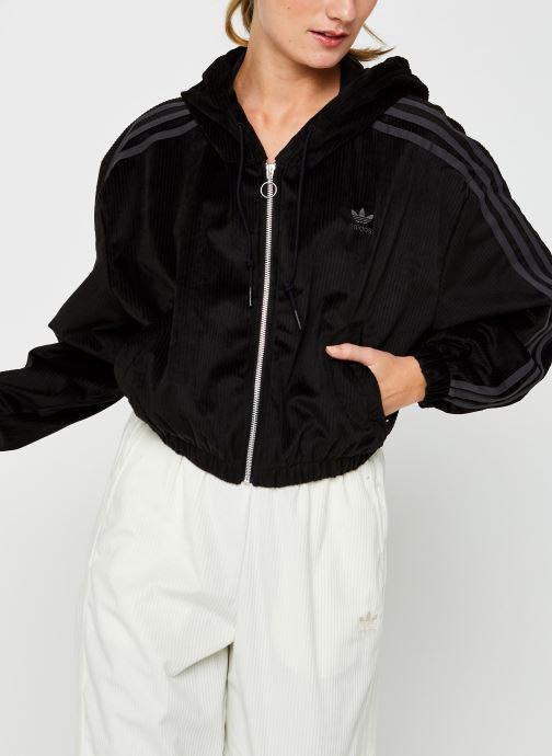 Vêtements adidas originals Track Top Noir vue droite