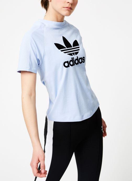 Vêtements adidas originals Regular Tee Bleu vue détail/paire