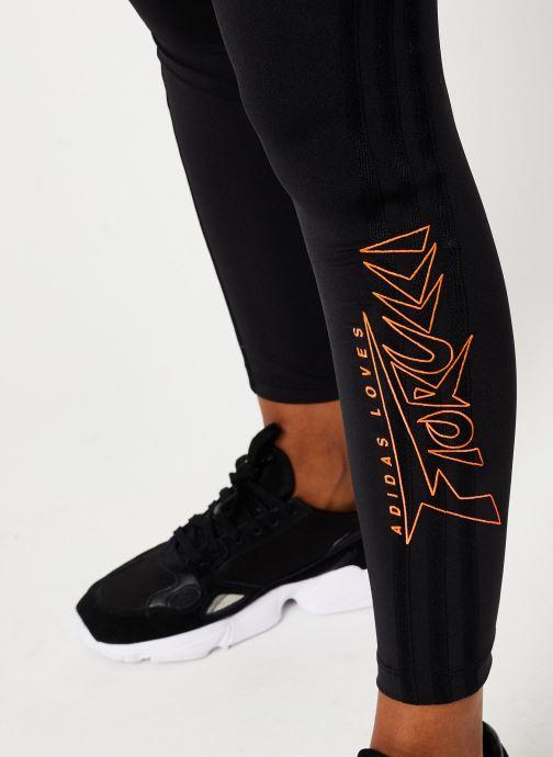 Vêtements adidas originals Tights Noir vue face