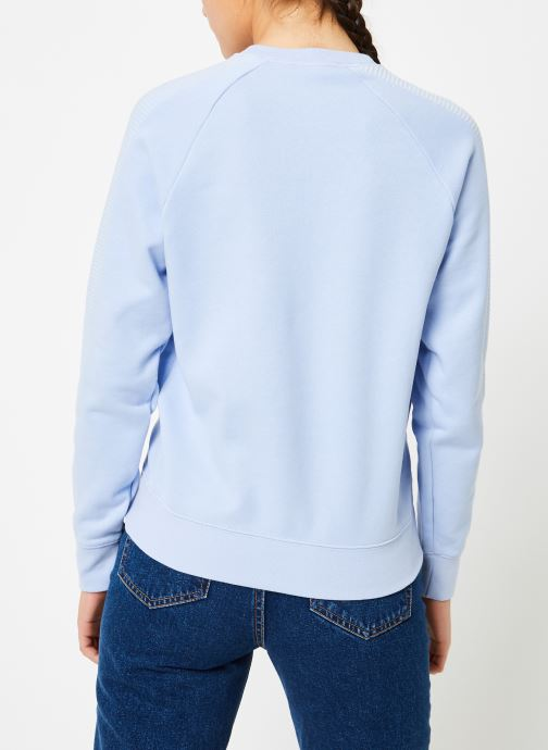 Vêtements adidas originals Sweater Bleu vue portées chaussures