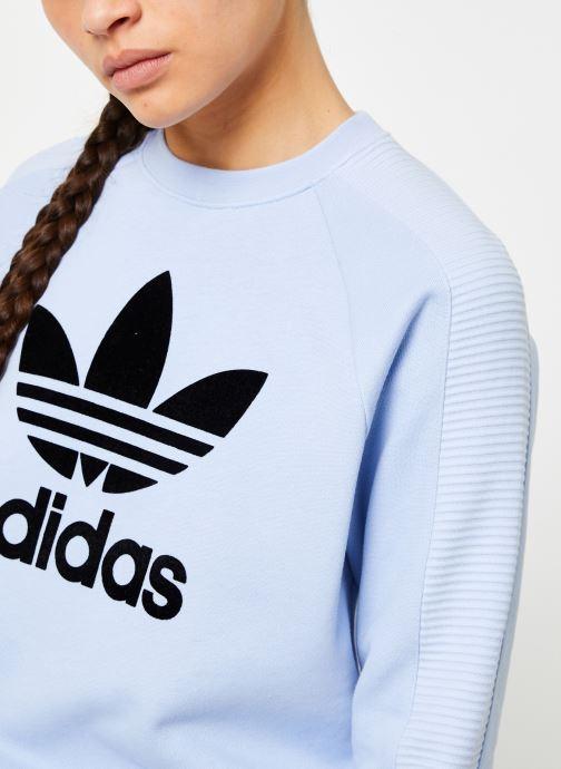 Vêtements adidas originals Sweater Bleu vue face