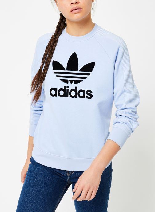 Vêtements adidas originals Sweater Bleu vue droite