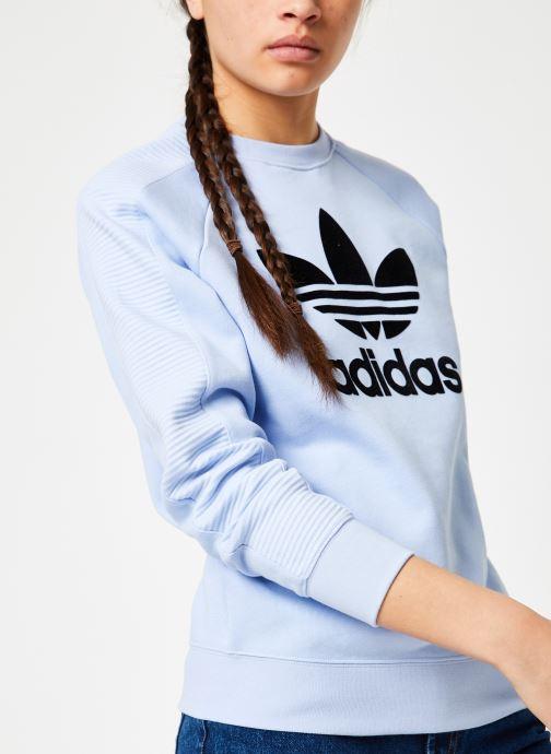 Vêtements adidas originals Sweater Bleu vue détail/paire