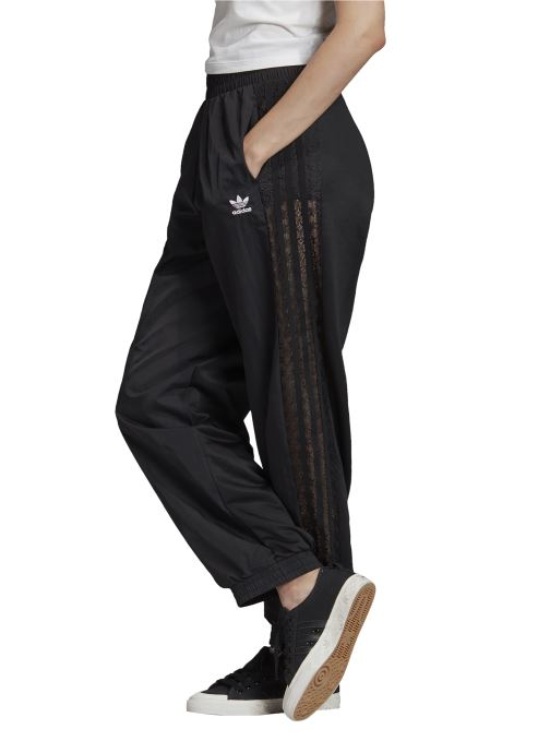 Vêtements adidas originals Cuffed Pants Noir vue face